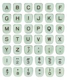 Vintage Green Typewriter Keys Stock Photography