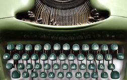 Vintage green typewriter Royalty Free Stock Photography