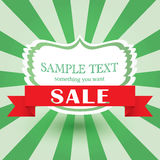 Vintage green vector background. retro cover Stock Photos