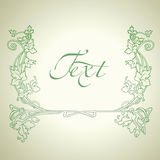 Vintage  Green Vector Ornate Frame. Royalty Free Stock Images