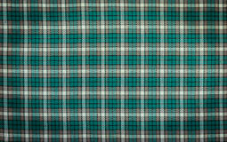 Vintage Green And White Checkered Tablecloth Royalty Free Stock Photos