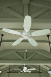 Wooden ceiling fans Stock Image