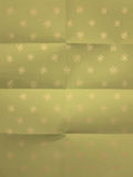 Vintage green wrapping paper with flowers Stock Photo