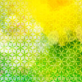 Vintage green and yellow defocused background Royalty Free Stock Image