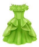 Vintage green yellow dress Stock Image