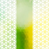 Vintage green and yellow minimalistic background Royalty Free Stock Photos