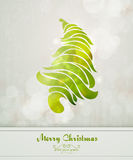 Vintage Greeting with Abstract Christmas Tree royalty free illustration