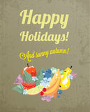 Vintage greeting for an autumn holidays Stock Photography