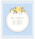 Vintage greeting card. With roses Stock Image