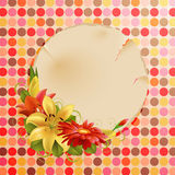 Vintage greeting card Stock Photography