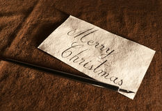 Vintage Greeting Card. Close-up of a vintage looking handwritten greeting card Royalty Free Stock Photography