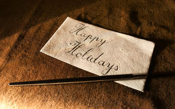 Vintage Greeting Card. Close-up of a vintage looking handwritten greeting card Stock Photography