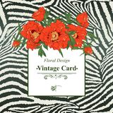 Vintage greeting card with blooming flowers. Royalty Free Stock Image