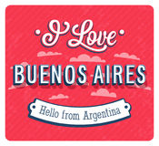 Vintage greeting card from Buenos Aires - Argentina. Vector illustration vector illustration