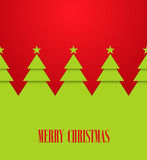 Vintage greeting card with Christmas trees. Vector illustration Royalty Free Stock Image