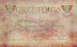 Vintage Greeting card Stock Images