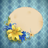 Vintage greeting card with flowers Royalty Free Stock Photo