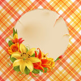 Vintage greeting card with flowers Stock Images