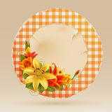Vintage greeting card with flowers Royalty Free Stock Images