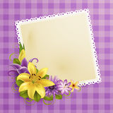 Vintage greeting card with flowers Stock Photo