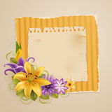 Vintage greeting card with flowers Royalty Free Stock Photography