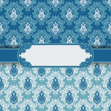 Vintage greeting card frame background vector Stock Photo