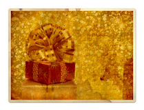 Vintage greeting card with gift boxes Royalty Free Stock Photos