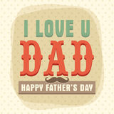 Vintage greeting card for Happy Fathers Day. Stock Images