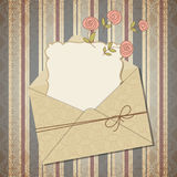 Vintage greeting card or invitation Royalty Free Stock Image
