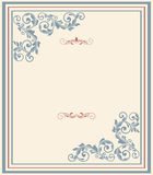 Vintage greeting card, invitation with floral ornaments Stock Photography