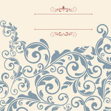 Vintage greeting card, invitation with floral ornaments Stock Photo