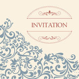 Vintage greeting card, invitation with floral ornaments Royalty Free Stock Image