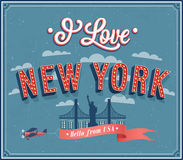 Vintage greeting card from New York - USA. Royalty Free Stock Photos