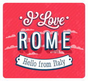 Vintage greeting card from Rome - Italy. Royalty Free Stock Photos