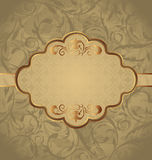 Vintage greeting card, seamless floral texture Stock Images
