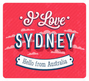 Vintage greeting card from Sydney - Australia. Royalty Free Stock Photography