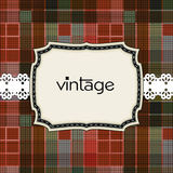 Vintage greeting card template Stock Images
