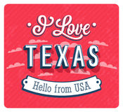 Vintage greeting card from Texas - USA. Royalty Free Stock Photos