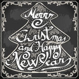 Vintage Greeting Card Text on a Blackboard Stock Photos