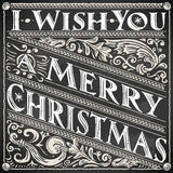 Vintage Greeting Card Text on a Blackboard Royalty Free Stock Photo