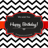 Vintage greeting card with text Happy Birthday, illustration, Stock Photo