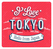Vintage greeting card from Tokyo - Japan. Stock Images