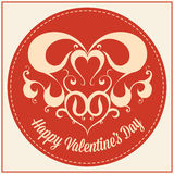Vintage greeting card for Valentines day holiday Stock Image