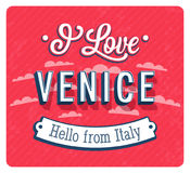 Vintage greeting card from Venice - Italy. Royalty Free Stock Photo