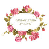 Vintage Greeting Card, Watercolor Illustration. Royalty Free Stock Image