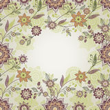 Vintage greeting cards with floral motifs in east style. Royalty Free Stock Photo
