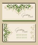 Vintage greeting cards floral motifs. Stock Image