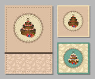 Vintage greeting cards set Royalty Free Stock Photography