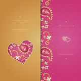 Vintage greeting cards with swirls Stock Image