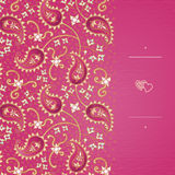 Vintage greeting cards with swirls and floral motifs in east style. Royalty Free Stock Photos